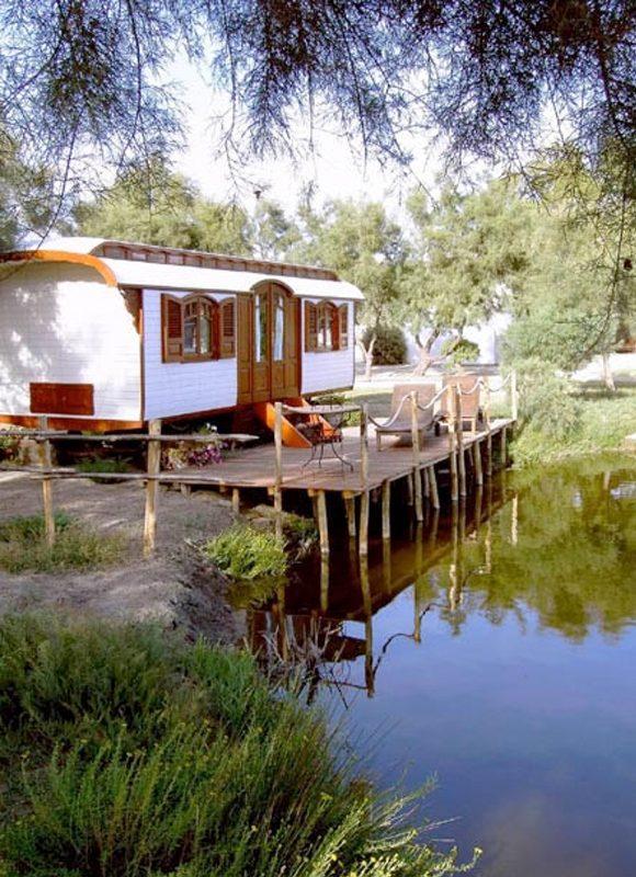 Caravan near the water
